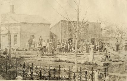 Titcomb shipyard in Kennebunk Landing, c.1855